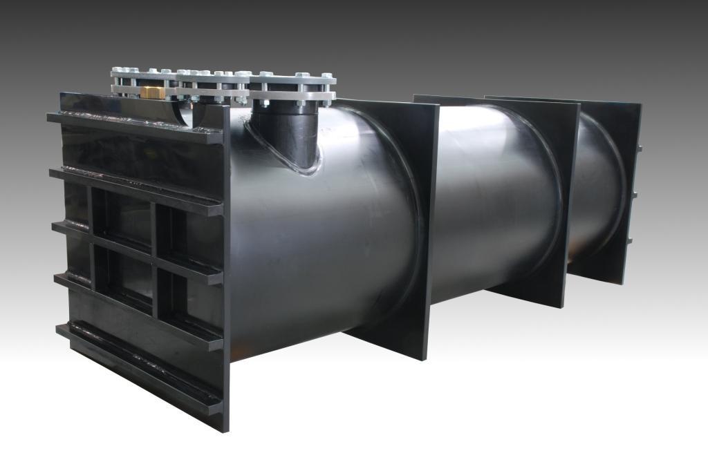 Unterdruckbehälter für Speisereste aus PE schwarz