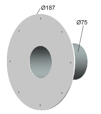 Siebadapter für Wandeinbauteil PVC